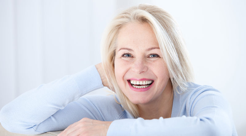 Active beautiful middle-aged woman